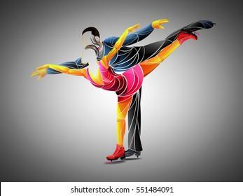 dance, skating, vector