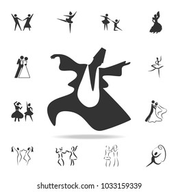 dance of the Sufis icon. Set of people in dance  element icons. Premium quality graphic design. Signs and symbols collection icon for websites, web design, mobile app on white background