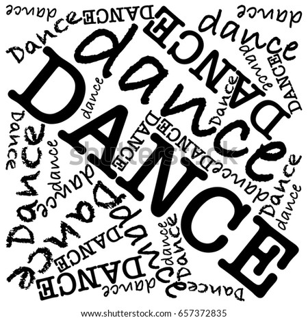 dance words illustration stock vector royalty free 657372835
