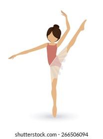dancer design over white background, vector illustration