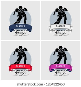 Dancing club or class logo design. Vector artwork suitable for dancers of tango, waltz, salsa, or rumba style.