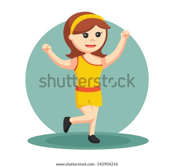 dancing club girl in yellow dress