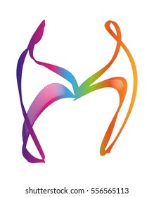 Dancing Couple Logo. Abstract logo. Vector Illustration.