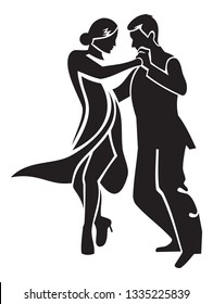 Dancing couple. Stylised image of tango dancers.
