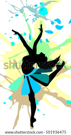 87822d7d9 Dancing Girl Abstract Splashes Stock Vector (Royalty Free) 501936475 ...
