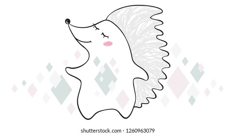 Dancing Bear Fox Wolf Unicorn Hedgehog Stock Vector Royalty Free