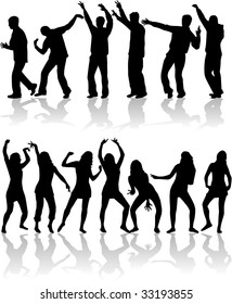 dancing people at disco.