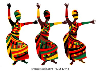 dancing people in ethnic style to fit the needs of your project