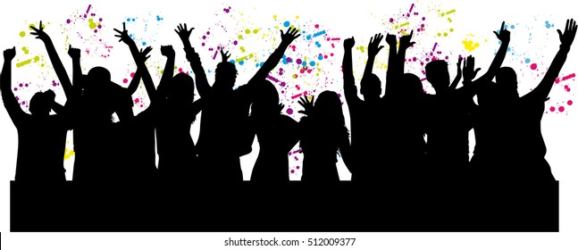 Silhouette Dance Music Abstract Background: Teen Silhouette Images, Stock Photos & Vectors