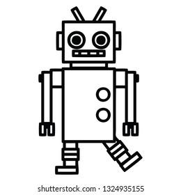 dancing robot icon symbol