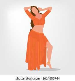 A dancing sequence representing bollywood movie dancing.