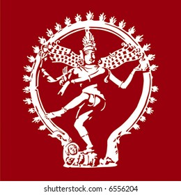 Dancing Shiva. Simple vector.