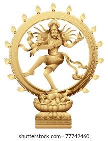 Dancing Shiva. Statue of indian hindu god Shiva Nataraja. The creator and destroyer