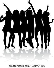 Dancing Silhouette  - Illustration