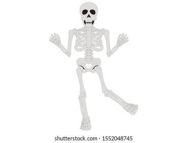 Dancing Skeleton. Funny Clipart Skeleton
