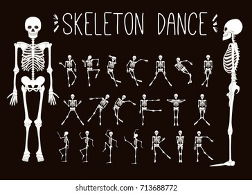 Dancing skeletons set.