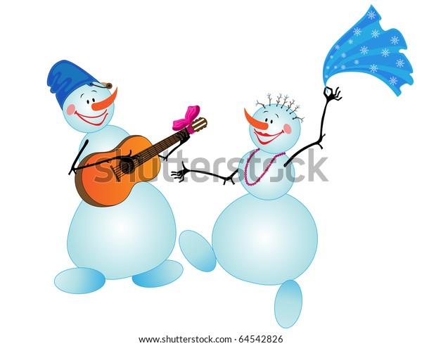 new concept ce457 32e56 Dancing Snowman Stock Vector (Royalty Free) 64542826