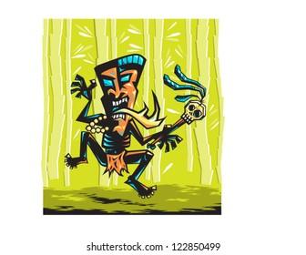 Dancing Tiki Man