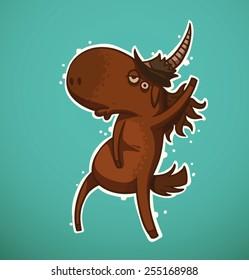 dancing unicorn, vector