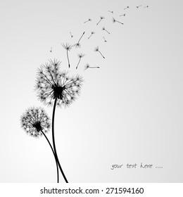 dandelion background in vintage style