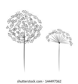 Dandelion flower for your design