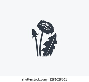 Dandelion icon isolated on clean background. Dandelion icon concept drawing icon in modern style. Vector illustration for your web mobile logo app UI design.