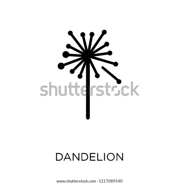 Dandelion Icon Dandelion Symbol Design Nature Stock Vector