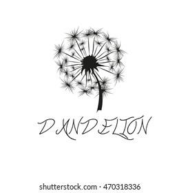 dandelion logo, black dandelion on white