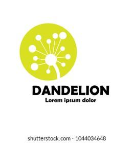 dandelion logo concept. vector illustration