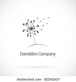 Dandelion, logo design vector template