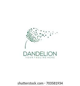 dandelion logo template vector