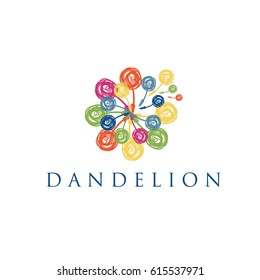 Dandelion logo. Vector