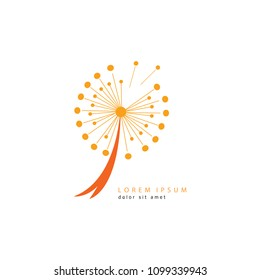Dandelion logo vector illustration