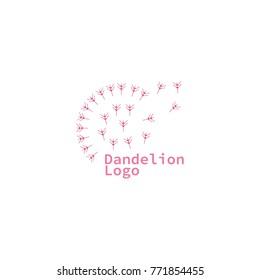dandelion logo vector illustration eps 10