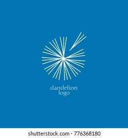 dandelion logo vector. dandelion sign