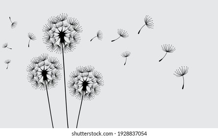 Dandelion wall decal,flow in the wind wall decal,dandelion wall stickers,dandelion flying wall decal children's room