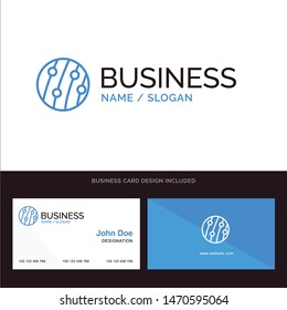 Dandruff, Hair Dandruff, Scalp Dandruff, Scalp Disease, Seborrhea Dermatitis Blue Business logo and Business Card Template. Front and Back Design. Vector Icon Template background