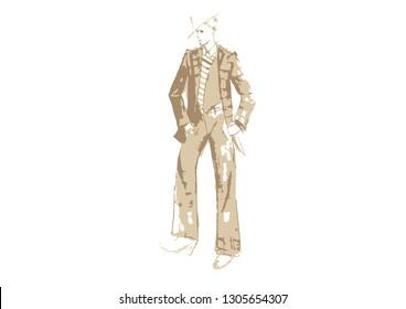 Dandy Fashion Illustration