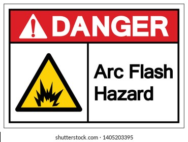 Danger Arc Flash Hazard Symbol Sign, Vector Illustration, Isolate On White Background Label .EPS10