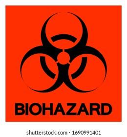 Danger BioHazard Symbol Sign, Vector Illustration, Isolate On White Background Label. EPS10