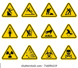 Danger and Caution Signs Collection