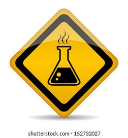 Danger chemicals vector sign