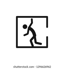 Danger Confined Space Symbol Sign, Vector Illustration, Isolate On White Background Icon. EPS10.