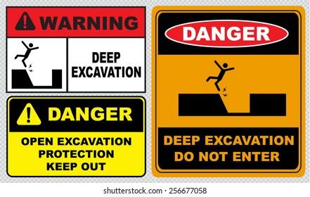 Deep Excavation Sign Images Stock Photos Vectors Shutterstock