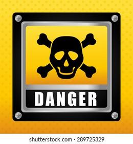 Danger design over yellow background, vector illustration.