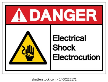 Danger Electrical Shock Electrocution Symbol Sign, Vector Illustration, Isolate On White Background Label .EPS10