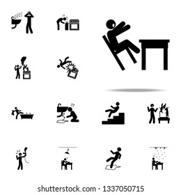 danger,  fall down icon. home hazard and safety precaution icons universal set for web and mobile