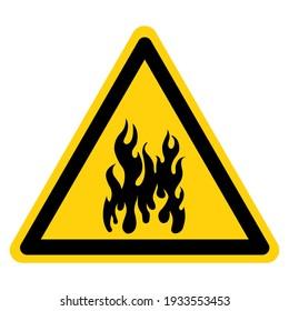 Danger Fuel Storage Area Symbol Sign ,Vector Illustration, Isolate On White Background Label. EPS10