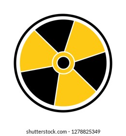 danger hazard nuclear icon-radioactive sign-hazard icon-attention sign-uranium illustration-atomic sign