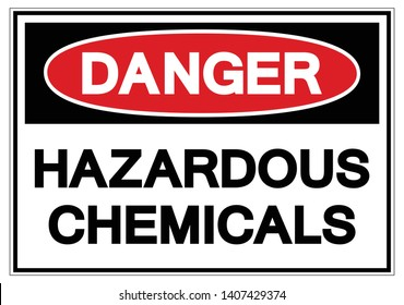 Danger Hazardous Chemicals Symbol Sign, Vector Illustration, Isolate On White Background Label. EPS10